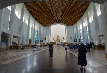 cracow: CRACOW; POLAND - JULY 22; 2016: The Divine Mercy Sanctuary in Lagiewniki; Cracow; Poland