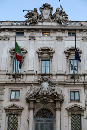 constitutional: Constitutional Court of the Italian Republic (Palazzo della Consulta) on Piazza del Quirinale  in Rome, Italy