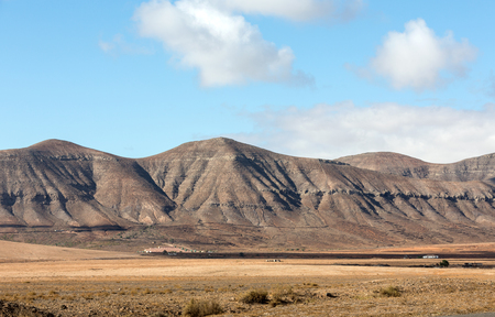 ochre: Beautiful volcanic mountains on  Fuerteventura. Canary Islands. Fuerteventura. Canary Islands