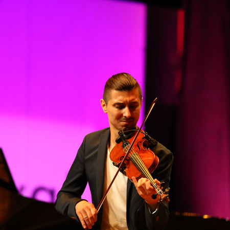 CRACOW, POLAND - JUNE 11, 2016: Adam Baldych -  Polish violinist  playing live music at Summer Jazz Festival in Cracow, Poland Editorial