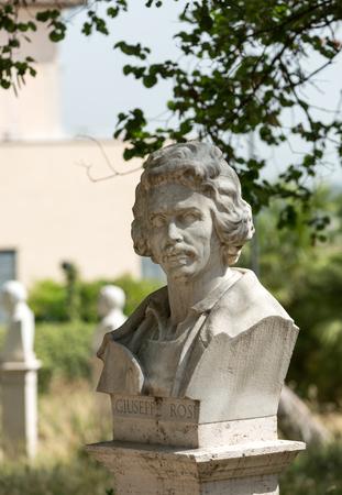 risorgimento: Statues in the Gianicolo park in Rome, Italy Editorial