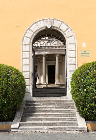 Palazzo Montorio on Janiculum Hill, residence of the Ambassadors of Spain. Rome, Italy Editorial