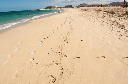 corralejo: Corralejo Beach on Fuerteventura, Canary Islands, Spain Stock Photo