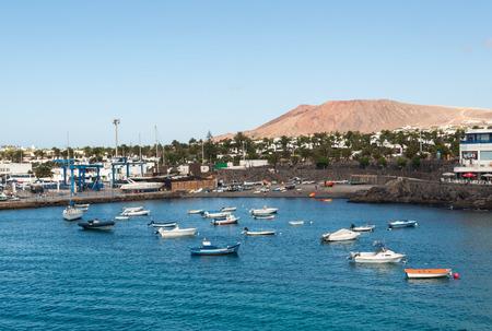 blanca: Playa Blanca on Lanzarote. Canary Island .Spain Editorial