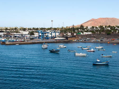 playa blanca: Playa Blanca on Lanzarote. Canary Island .Spain Editorial
