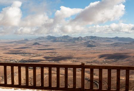 fuerteventura: Volcanic Lanscape. Panoramic view  on  Fuerteventura from Mirador Morro Velosa, Fuerteventura, Canary Island, Spain