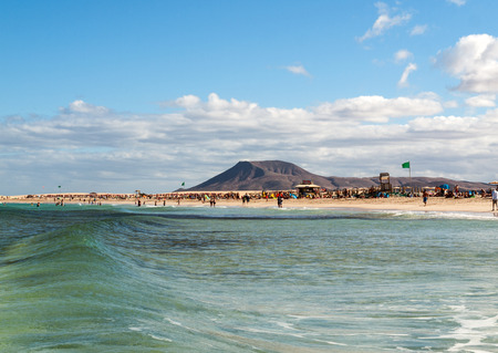 Corralejo Beach on Fuerteventura, Canary Islands, Spain Editorial