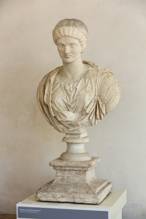 bust of Antonina Minor  in the baths of Diocletian in Rome. Italy