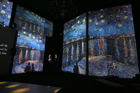 The exhibition Van Gogh Alive – The Experience at The Old Train Station in Krakow. Poland Éditoriale