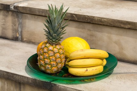 exotic fruits: Assortment of fresh exotic fruits