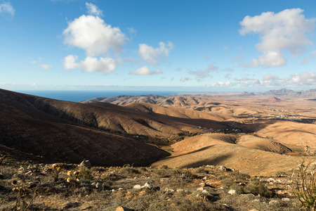 ochre: Morro Velosa Pointview -  unique views over the wonderful landscape of the north-central region of the island.  Fuerteventura , Canary Island, Spain