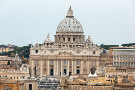 Vatican and  Basilica of Saint Peter seen from Castel Sant'Angelo. Roma, Italy