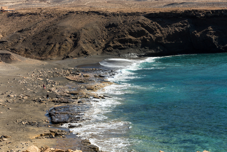 south western: Rock coast near La Pared village on the south western part of Fuerteventura . Canary Islands, Spain