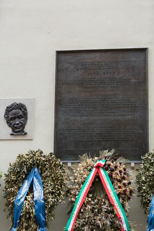 Memorial to Aldo Moro, in via Caetani, Rome, Italy