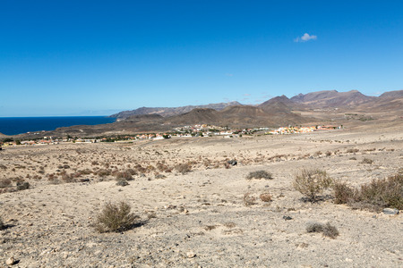 south western: La Pared village on the south western part of Fuerteventura . Canary Islands, Spain Stock Photo