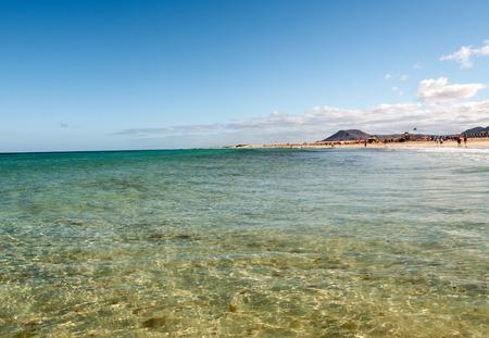 fuerteventura: Corralejo Beach on Fuerteventura, Canary Islands, Spain Editorial