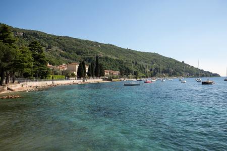 torri: Shore of the Lake Garda in the village of Torri del Benaco in Italy