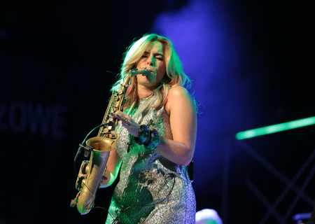 Candy Dulfer live on stage in ICE Cracow, Poland
