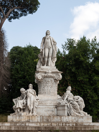 Goethe statue at Villa Borghese in Rome, Italy