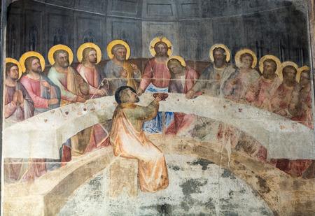 The frescos in Baptistery of Duomo or The Cathedral of Santa Maria Assunta by Giusto de Menabuoi (1375-1376).
