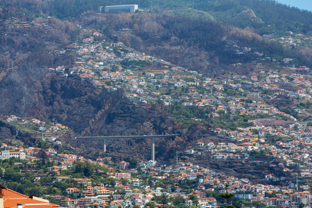 lobos: Panoramic view of Funchal on Madeira Island. Portugal