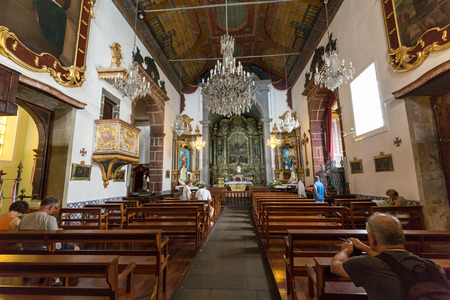 church of our lady: FUNCHAL, PORTUGAL - SEPTEMBER 2, 2016: Igreja de Nossa Senhora do Monte Church (Our Lady of the Mount) in Monte near Funchal on the Portuguese island of Madeira.