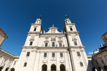 dom: Famous Salzburg Cathedral (Salzburger Dom) at Domplatz, Salzburg Land, Austria