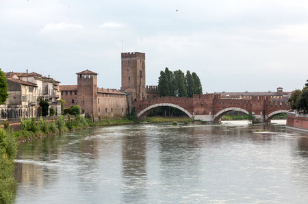 castel: The Ponte Pietra (Stone Bridge), once known as the Pons Marmoreus, is a Roman arch bridge crossing the Adige River in Verona, Italy. The bridge was completed in 100 BC,