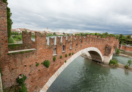 pons: The Ponte Pietra (Stone Bridge), once known as the Pons Marmoreus, is a Roman arch bridge crossing the Adige River in Verona, Italy. The bridge was completed in 100 BC,