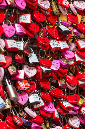 juliets: Verona - Lover locks and master key locks closed up at Casa di Giulietta (in front of Juliets Balcony). People believes this would help blessing in their love lives.