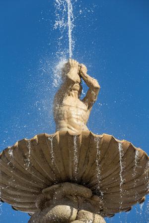 residenz: Baroque Residence fountain on Residentplatz in Salzburg. Austria