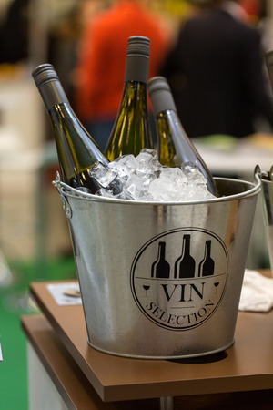 CRACOW, POLAND - NOVEMBER 17, 2016:  International Wine Trade Fair ENOEXPO in Cracow is a professional event dedicated to wine. Every year the producers of wine from all around the world meet the importers, distributors and representatives. Cracow. Poland