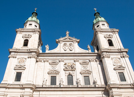 amadeus: Famous Salzburg Cathedral (Salzburger Dom) at Domplatz, Salzburg Land, Austria