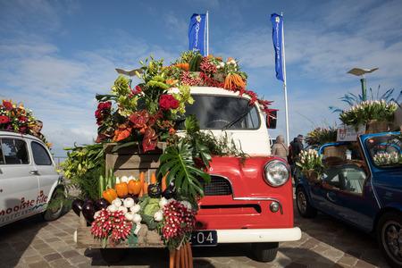 NOORDWIJK, NETHERLANDS - 22 APRIL 2017: the traditional flowers parade Bloemencorso from Noordwijk to Haarlem in the Netherlands.