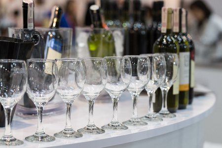 CRACOW, POLAND - NOVEMBER 17, 2016:  International Wine Trade Fair ENOEXPO in Cracow .Producers of wine from all around the world meet the importers, distributors and representatives. Cracow. Poland Editorial