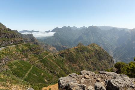 View the pass Boca da Encumeada in Madeira. Portugal