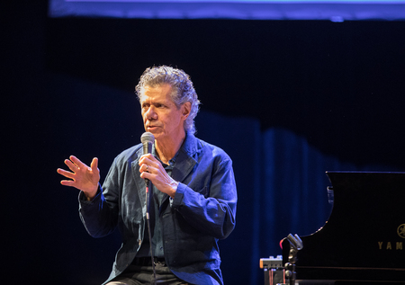 nominations: CRACOW, POLAND - MAY 8, 2017: Chick Corea Trio live on stage in ICE Cracow, Poland. Chick Corea is one of the world of jazz giants, a true legend of the piano and keyboards, with more than 50 Grammy award nominations, Editorial