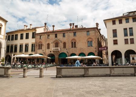 PADUA, ITALY - MAY 3, 2016: Piazza Duomo in Padua, Veneto. Italy Editorial
