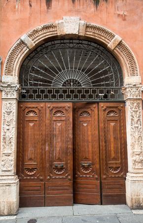 Entrance to a home in Verona, Veneto, Italy, Europe Stock Photo