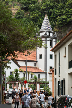 SAO VINCENTE, MADEIRA, PORTUGAL - SEPTEMBER 5, 2016: The seaside villge of Sao Vincente on north west coast of Madeira