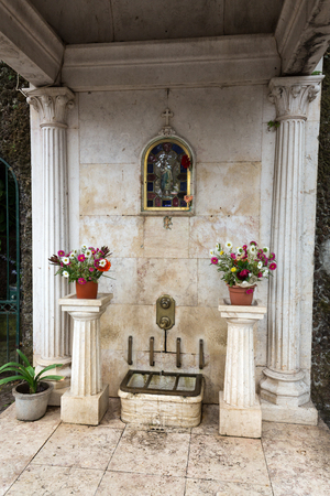 The drinking fountain of Our Lady of Monte, Funchal, Madeira Banco de Imagens