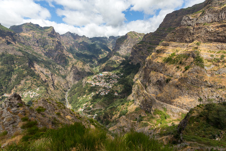 portugal agriculture: Valley of the Nuns, Curral das Freiras on Madeira Island, Portugal