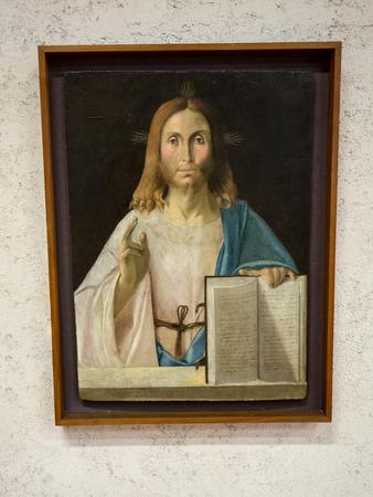 Vérone, Italie - 1er mai 2016: Christ le Reedemer au Musée Castelvecchio. Vérone, Italie Banque d'images - 84460727