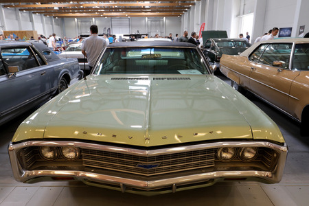 restored: CRACOW, POLAND - MAY 20, 2017: Chevrolet displayed at  MOTO SHOW in Cracow Poland. Exhibitors present  most interesting aspects of the automotive industry Editorial