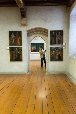 VÉRONE, ITALIE - 1er mai 2016: Musée Castelvecchio à Vérone, Italie Banque d'images - 85743361