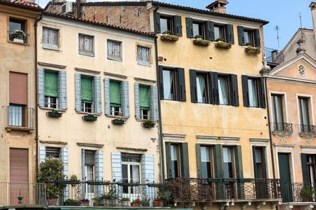 windows: The historic city center of Mantua. Italy