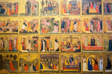 Vérone, Italie - 1er mai 2016: Trente histoires bibliques au musée de Castelvecchio. Vérone, Italie Banque d'images - 87504951