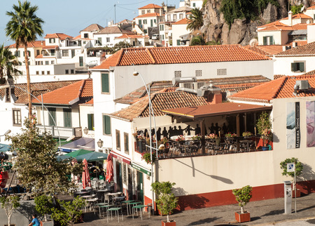 CAMARA DE LOBOS, MADEIRA, PORTUGAL - SEPTEMBER 5, 2016: Camara de Lobos - traditional fishing village, situated five kilometres from Funchal on Madeira. Portugal