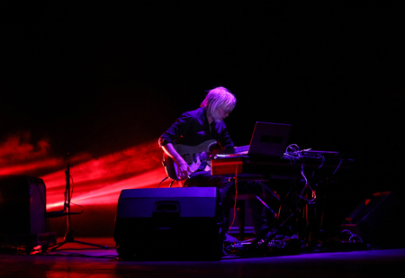 Gorlice, Poland - July14 2017: Eivind Aarset live at International Multimedia Presentation - Ambient Festival . Gorlice. Poland Ambient is an annual event that presents ambitious electronic music. The concept of the event is to present what is happening i