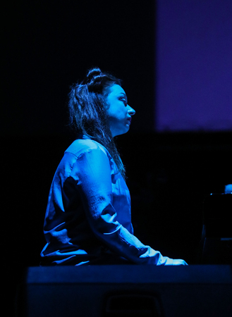 Gorlice, Poland - July15 2017: Katarzyna Borek live at International Multimedia Presentation - Ambient Festival . Gorlice. Poland Ambient is an annual event that presents ambitious electronic music. The concept of the event is to present what is happening Editorial